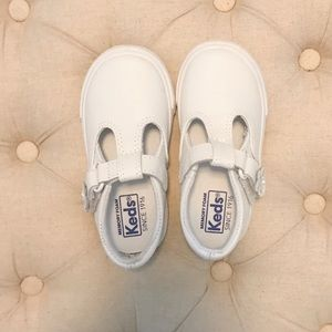 Toddler Keds Daphne T-Strap Leather Sneaker NEW 6M